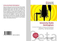 Bookcover of University Radio Nottingham