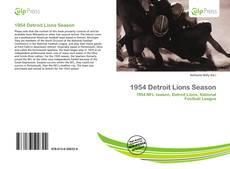 Copertina di 1954 Detroit Lions Season
