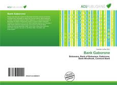 Bookcover of Bank Gaborone