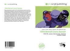 Обложка 1956 Detroit Lions Season
