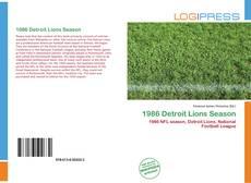 Обложка 1986 Detroit Lions Season
