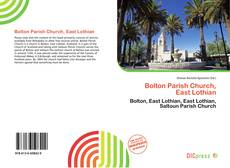 Bookcover of Bolton Parish Church, East Lothian