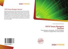 Bookcover of 1974 Texas Rangers Season