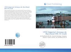 Обложка 1924 Imperial Airways de Havilland DH.34 crash