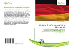 Bookcover of Minister for Foreign Affairs (Germany)