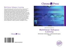 Couverture de Multilinear Subspace Learning