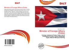 Bookcover of Minister of Foreign Affairs (Cuba)