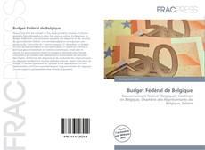 Capa do livro de Budget Fédéral de Belgique