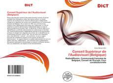 Bookcover of Conseil Supérieur de l'Audiovisuel (Belgique)