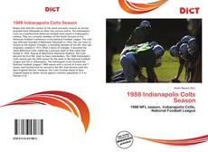 Capa do livro de 1988 Indianapolis Colts Season