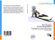 Bookcover of Don Burgess (Cinematographer)
