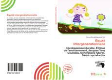 Équité Intergénérationnelle kitap kapağı