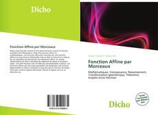 Copertina di Fonction Affine par Morceaux