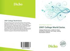 Portada del libro de 2007 College World Series