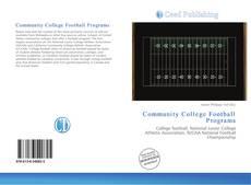 Buchcover von Community College Football Programs