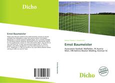 Buchcover von Ernst Baumeister