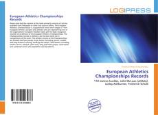 Capa do livro de European Athletics Championships Records
