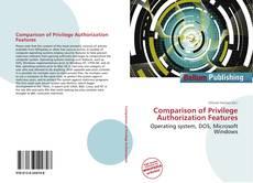 Bookcover of Comparison of Privilege Authorization Features