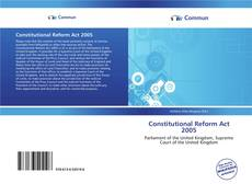 Bookcover of Constitutional Reform Act 2005