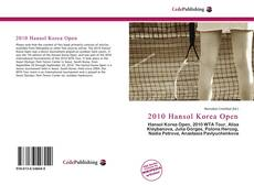 Portada del libro de 2010 Hansol Korea Open