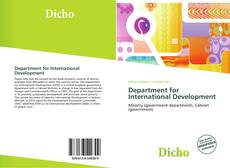 Department for International Development kitap kapağı