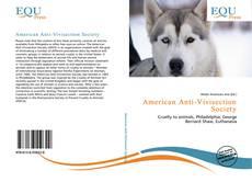 Couverture de American Anti-Vivisection Society