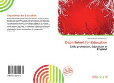 Portada del libro de Department for Education