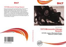 Bookcover of 1973 Minnesota Vikings Season