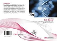 Bookcover of Erik Dekker