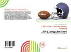 1972 New Orleans Saints Season kitap kapağı