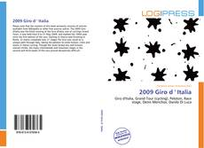 Bookcover of 2009 Giro d ' Italia
