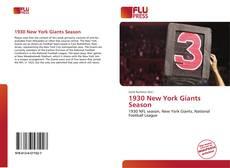 Portada del libro de 1930 New York Giants Season