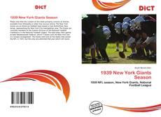 Portada del libro de 1939 New York Giants Season