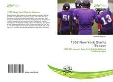 Portada del libro de 1952 New York Giants Season
