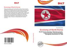 Capa do livro de Economy of North Korea