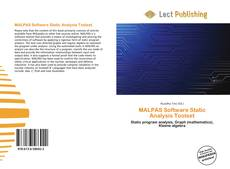 Bookcover of MALPAS Software Static Analysis Toolset