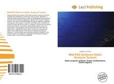 Couverture de MALPAS Software Static Analysis Toolset