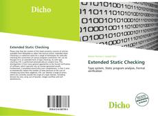 Bookcover of Extended Static Checking