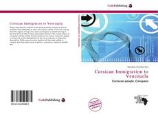 Bookcover of Corsican Immigration to Venezuela