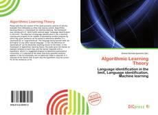 Capa do livro de Algorithmic Learning Theory