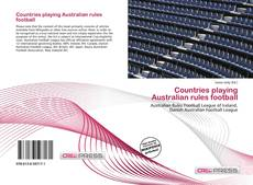 Обложка Countries playing Australian rules football