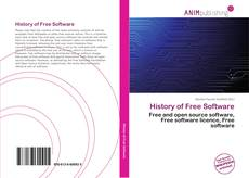 Buchcover von History of Free Software