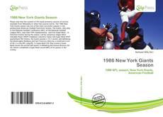 Bookcover of 1986 New York Giants Season