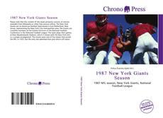 Portada del libro de 1987 New York Giants Season