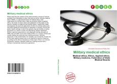 Bookcover of Military medical ethics