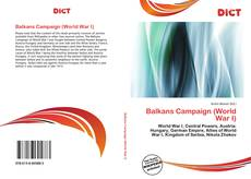Bookcover of Balkans Campaign (World War I)