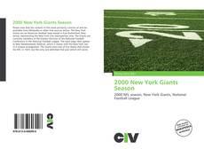 Portada del libro de 2000 New York Giants Season