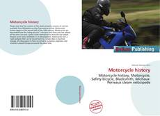 Bookcover of Motorcycle history