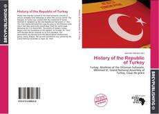 Couverture de History of the Republic of Turkey