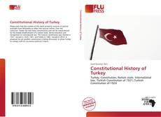 Couverture de Constitutional History of Turkey